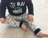 Baby Leggings - Baby Girl Leggings - Baby Boy Leggings - Geometric Diamond - Gender Neutral