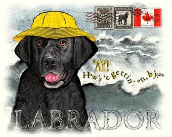 Labrador Retriever International Greeting Ay card