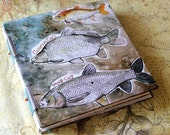 Handmade Art Journal Watercolour Sketchbook - Holy Carp
