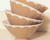 Four vintage japanese bowls rice soup latte