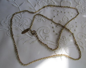 Vintage Whiting and Davis Delicate Chain Necklace
