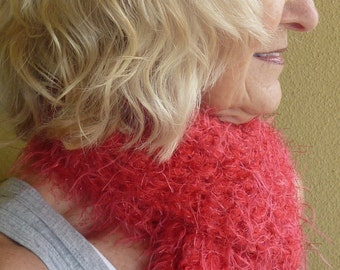 Women's scarf Red crochet Scarf Women's fashions Winter scarf Unique Winter Clothing