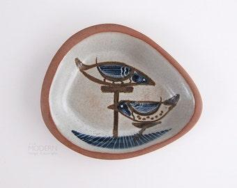 Vintage Eddy Kourishima Modern Stoneware Bird Bowl