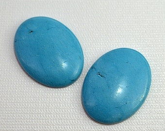 Turquoise (dyed howlite) cabochons, 40x30mm - #1756