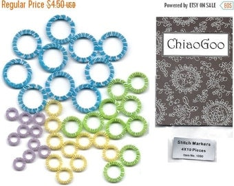 ON SALE: 1090 - ChiaoGoo Stitch Markers 40 count - 4 sizes x 10 each