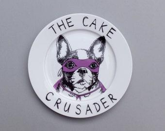 The Cake Crusader side plate