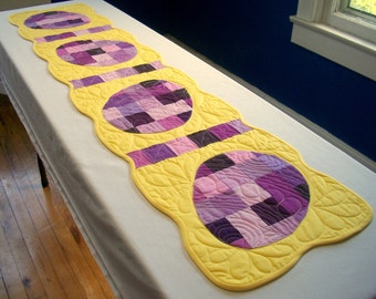Easter Egg Table Runner Quilted Quiltsy Handmade FREE U.S. Shipping