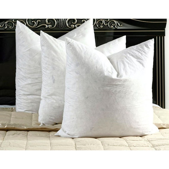 Items similar to set of three down feather european pillow for Best euro pillow inserts
