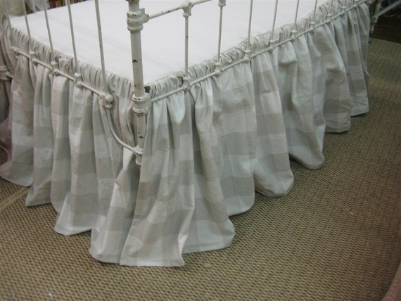 Tailored Bumperless Baby Bedding Light Grey By Cottageandcabin