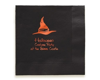 100 Halloween Napkins, Halloween Decorations, Party Napkins, Cloth Napkins, Cocktail Napkins, Personalized Napkins, Custom Napkins, Napkins
