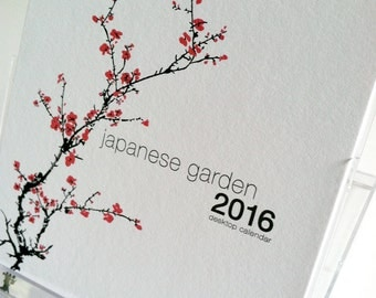 2016 Desk Calendar Japanese Garden