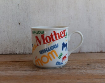 "Vintage""Mother"" Coffee Mug // Rainbow // Mother's Day"