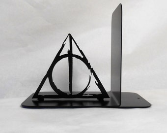 Single Metal Bookend, Movies, Books, Organizer, Metal Art, Shelf Decor