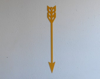 Arrow / Yellow / Metal Art / Wall Hanging / Home Decor / Native american / wall decor / archery / arrowhead