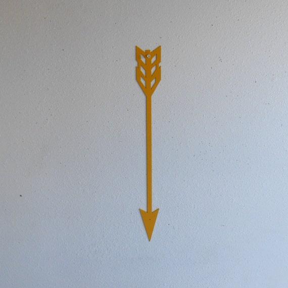 Arrow / Yellow / Metal Art / Wall Hanging / Home Decor / Native american / wall decor / archery / arrowhead