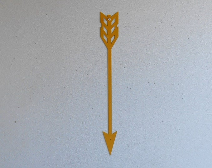 Arrow / Yellow / Metal Art / Wall Hanging / Home Decor /  wall decor / archery / arrowhead