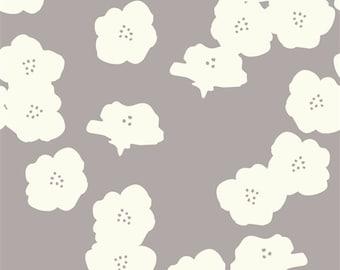 Organic DOUBLE GAUZE Fabric - Poppies Shroom