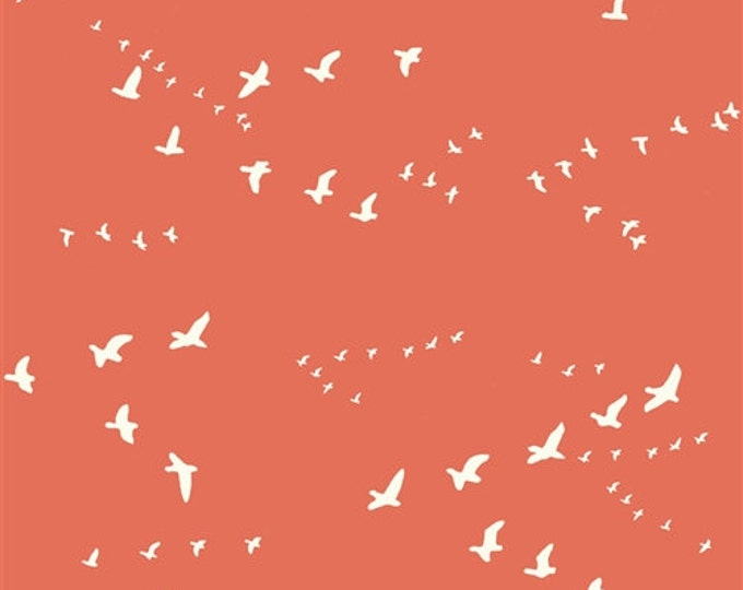 Organic DOUBLE GAUZE Fabric - Flight Coral
