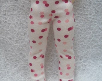 Super Dollfie Yo SD Littlefee Red & Pink Polka Dot Leggings