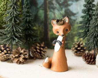 Red Fox Queen - Fox Sculpture - by Bonjour Poupette