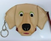 Rolfs Leather Dog Face Coin Purse Wallet