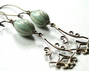 Earrings / Jewelry / Dangle Earrings / Autumn Accessories / Gift for Her / Vintage BoHo Chic Earrings / Handmade Earrings