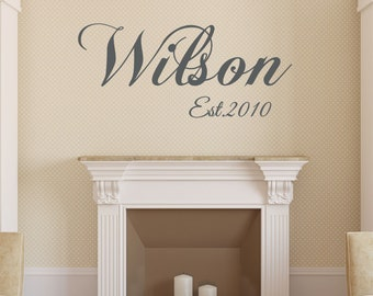 Home Wall Decal , Living Room Decal , Wall Decal Vinyl Wall Decal Home  Family Name Part 69