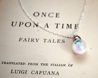 Fairy Dust Believe In Magic Silver Necklace