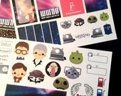 Cute Doctor Who Planner Stickers - 2 Sheets