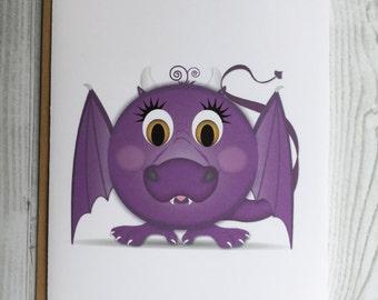 Lil' Dragon Card, Invitation, Blank Card, Greeting Card, All Occasion Card