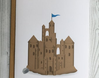Castle of Sand Card, Invitation, Blank Card, Greeting Card, All Occasion Card