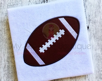 Football Applique Designs - Football Embroidery Sports Applique - Machine Embroidery Applique Football Designs - 14 sizes - Instant Download