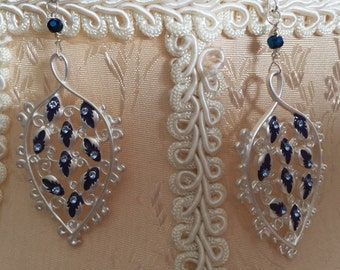 Blue enchantment earrings