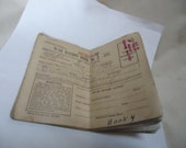 Vintage 1943 War Rations Book No. 3 With Stamps, collectable