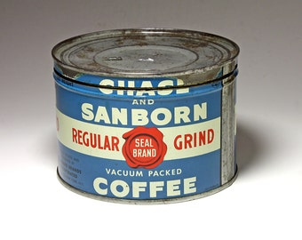 Vintage Chase & Sanborn Coffee Can - Circa 1940's