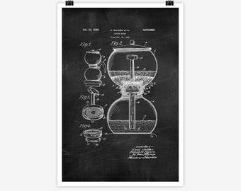 Patent Art Coffee Maker, 1942 - Large Patent Art Print Print Patent Art Print Wall Decor Vintage Art Patent Print Wall Hanging 18.