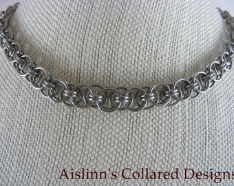 Stainless Steel Helmmaille Choker Necklace