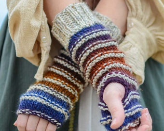 Hand Knit Fingerless Arm Warmers