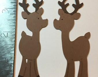2 Reindeer die cut