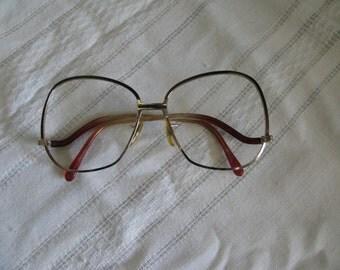 Vintage Granny Glasses Eye Wear Eyeglasses Metal Frame Accessory Retro Round Square Frames