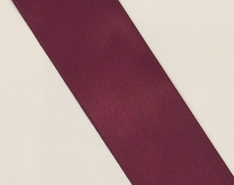 "CLEARANCE Double Sided Satin Ribbon 1 1/2"" sangria 40 yards"