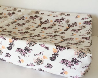 Plum Crib Bedding / Rustic Crib Sheets / Mini Crib Sheet / Changing Pad Covers / Purple Fitted Crib Sheet / Baby Bedding Babiease