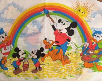 Mickey Mouse Rainbow - Vintage pillowcase