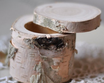 birch wedding • birch wood  • ring bearer pillow  •  ring box for wedding decor