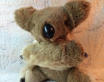 "Real Fur Koala Bear - Australian Souvenir Rabbit Fur 9"""