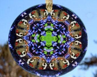 Butterfly Suncatcher Boho Chic Mandala New Age Sacred Geometry Hippie Kaleidoscope Mod Gypsy Unique Gift For Her Nature Love Delightful Soul