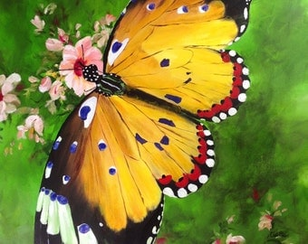Butterfly Painting, Butterflies, Bugs, Giclee print