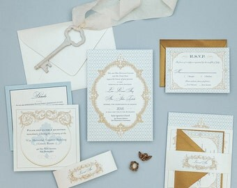 french baroque wedding invitations fleur de lis wedding invitation setsfrench blue wedding invitations