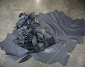 Gray Buttery Soft Italian Lamb Leather Full Hide and Large Scraps 3lbs