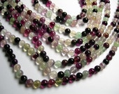 Fluorite - 8 mm round beads -1 full strand - 50 beads - rainbow fluorite - RFG78